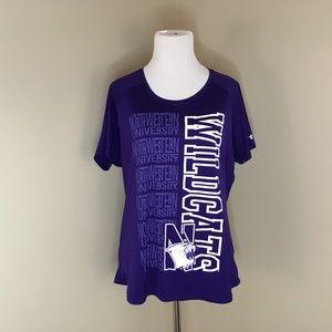 Northwestern Wildcats Under Armour XL Shirt Purple